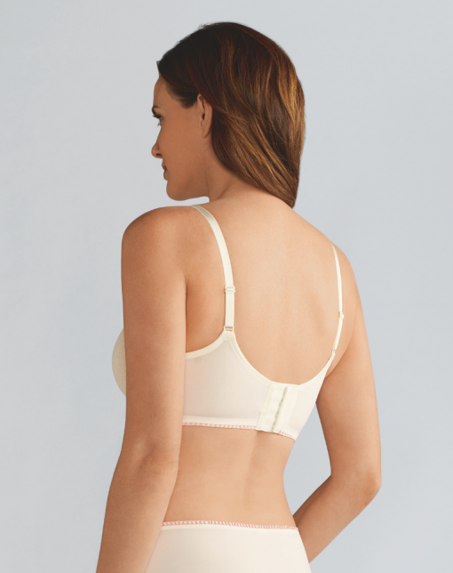 Jade Padded Non-Wired Bra - Off-White / Rose Nude