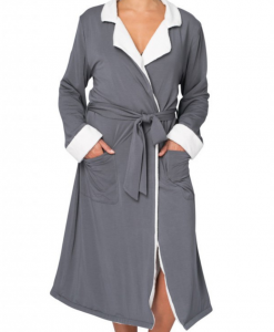 Love & Lustre Sherpa Storm Grey Robe
